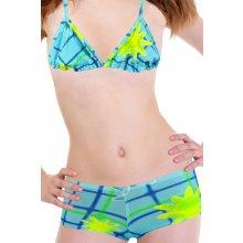 e70f8e18d63 Aqua B dívčí plavky se sukénkou modrá