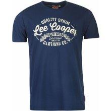 Lee Cooper Logo Vintage T Shirt Mens Vintage Blue
