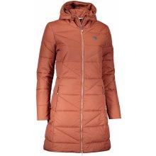 NORDBLANC TINT NBWJL6428 SKOŘICOVĚ Dámský zimní kabát HNĚDÁ