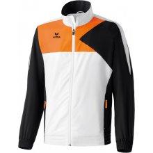 Erima dětská reprezentační tepláková souprava Premium ONE Bílá černá Neon oranžová