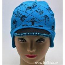 RDX čepice na uši   kšilt 2706 roboti tyrkysová 20d8a5d99f
