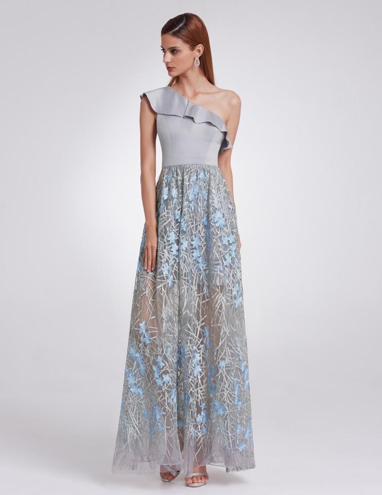 581dec779188 Plesové šaty Ever Pretty dlouhé šifonové šaty bez rukávů EP08742PK ...