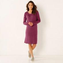8916288f91a Blancheporte pletené šaty s mašlí vzadu švestková