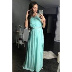 a4302c264d4f Eva   Lola dámské společenské plesové šaty dlouhé s kamínky zelená ...