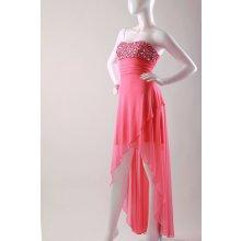 728441ee7637 Glamor lososové společenské šaty růžová