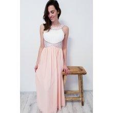 d4f246ed4d95 Mishel dlouhé šaty Carollina růžová modrá vínová světle růžová