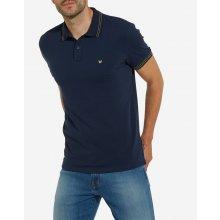 Wrangler pánské tričko s límečkem w7b25k43 Modrá 5323fbbb8c