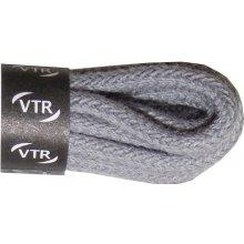 Kulaté šedé tenké bavlněné tkaničky 45 cm