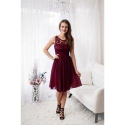 Dámské společenské šaty Deborah s krajkou bordó od 1 399 Kč - Heureka.cz e3e8320915