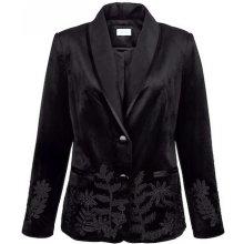 Mona sametové sako černá