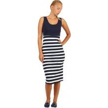 97814d2dfa3 Dvoubarevné bavlněné šaty s proužky 242537 tmavě modrá