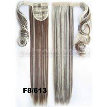 Culík - cop rovný, 57 cm se suchým zipem a omotávkou - F8/613 (melír světle hnědé v beach blond)