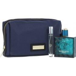 Versace Eros pro muže EDT 100 ml + EDT 10 ml + kosmetická taška dárková sada  kosmetická sada 4440e59011