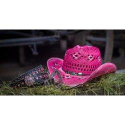 Dámský westernový slaměný klobouk Country růžový od 730 Kč - Heureka.cz c96099a6e8