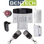 Bezdrátový GSM alarm BENTECH G03 - domovní set, CZ jazyk