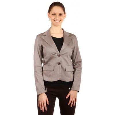 Glara sako s krajkovými zády šedá