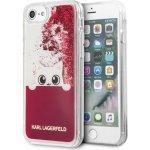 Pouzdro Karl Lagerfeld iPhone 7/8 Peek and Boo TPU Glitter - růžové