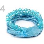 Stoklasa Dětský náramek z korálků 4 modrá azuro