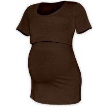 Jožánek Kateřina tričko pro snadné kojení KR čoko hnědá
