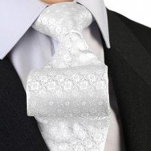 Greg Svatební kravata stříbrná 91206