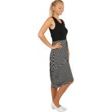 Dlouhé letní šaty s proužky 241159 černá 17d2a3c3af