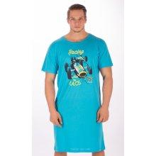 Závodní auto pánská noční košile kr.rukáv sv.modrá
