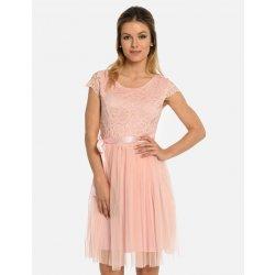 Calzanatta dámské krajkové šaty s tylovou sukní 80300059 lososová ... d8015223c8