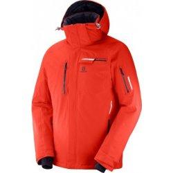 SALOMON zimní bunda. Pánská bunda a kabát Salomon Brilliant jacket Fiery red  C10023 nepromokavá ... c7c9a27fd2