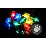 Zahradní párty osvětlení LED - skleněné žárovky - 5 m barevné - Garthen D40612