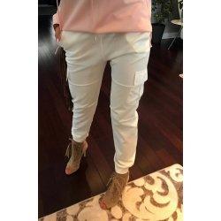 dámské kalhoty s nízkým sedem a kapsami bílé alternativy - Heureka.cz 209d6f2920