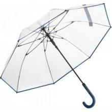 Dámský průhledný holový deštník COMTESSA tm. modrý 7112