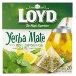 Loyd Yerba maté s mátou citrónovou trávou a s příchutí citrónu 20 x 1.7 g