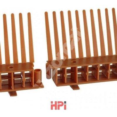 HPi Ochranná větrací mřížka 2000 univerzální 1000x60 mm s hřebenem červená