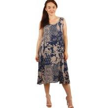 09b10f799300 TopMode volné šaty s květinovým vzorem i pro plnoštíhlé hnědá