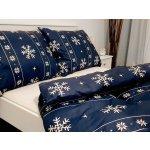 Písecké lůžkoviny bavlna povlak na polštář 70x90 - Vánoční modrý