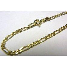 Náramek silný dámský luxusní zlatý FIGARO H543