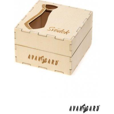 Dřevěná dárková krabička na kravatu - pro svědka