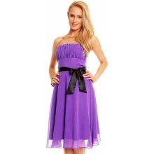 MAYAADI dámské korzetové společenské šaty s mašlí a šifonovou sukní 181 P  fialová f14807f3e9