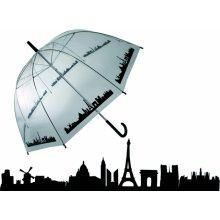 DecoDoma Dámský deštník průhledný Paříž