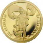 Zlatá mince Patroni Svatý Florián 2018 Proof