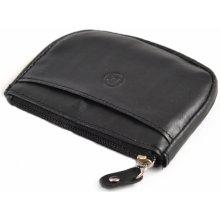 72b57552772 Bright Peněženka na mince a kartu kožená na zip černá 11 x 2 x 9 KP00