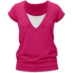 Jožánek Karla kojící tričko s krátkým rukávem sytě růžová od 350 Kč ... 50a3f66c7d
