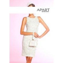 Apart Svatební pouzdrové šaty v krémové barvě