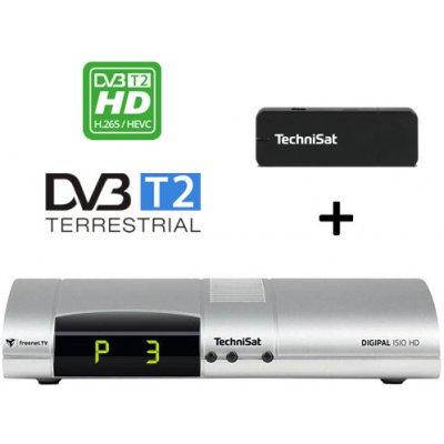 Výhodný set TechniSat Digipal ISIO HD, stříbrný + USB WiFi adaptér TELTRONIC ISIO