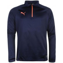 Puma Essentials Quarter Zip Top Mens Navy/Coral
