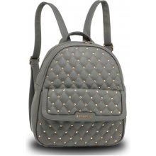 Anna Grace luxusní batoh se značkou na přední straně šedý 313b2f1ebf