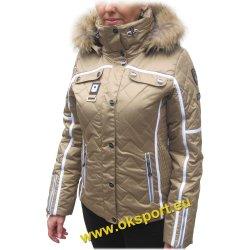 Dámská zimní bunda Icepeak Ofra IA 53071-122 zlatá s pravou ...