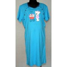 kojící noční košile s potiskem modrá