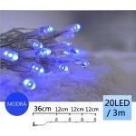 TFY NO34977 Vánoční LED osvětlení řetěz 20LED, 3m, modrá