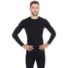 Brubeck Active Wool Pánské tričko s dlouhým rukávem black 1723199ff5